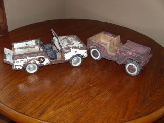 2 Vintage Toy Tonka Jeep Nylint Police Jeep Parts Restoration