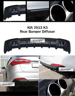 Rear Bumper Diffuser Matt Black 1pcs Fit Kia 2013 K3