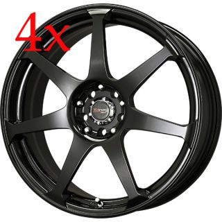 Drag Wheels Dr 33 18x7 5 5x110 5x105 Gloss Black Rims Malibu Saab G5 G6 ion SS