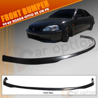 99 00 Honda Civic 4DR EK Sir Urethane Front Bumper Lip PU Sun Window Visor