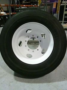 """22 5"""" Rims and 39"""" Tires Commercial Semi Truck Trailer Wheels 4 Rims Tires"""