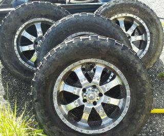 4 20x9 Ultra Goliath Chrome Wheels Rims 5x135 Ford 97 03 325 60R20 35x12 50R20