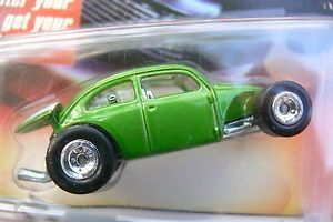 2006 HW Hot Wheels Ultra Hots Custom VW Bug Green Rat Rod Modified Racing Car