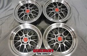 4 Used 19x8 5 5x120 5 120 Akzent Opal Machined Wheels Rims