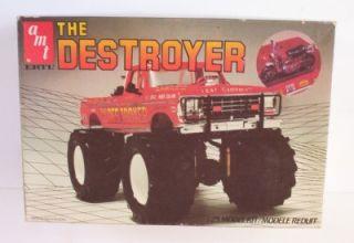 4x4 Ford Monster Truck Destroyer 1 25 AMT 6608 Model 70's Pickup Kit Opened