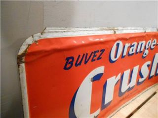 "No Reserve Vintage Orange Crush Cola Large 39""x16"" Soda Tin Sign not Coke Pepsi"