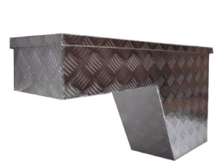 2 x Aluminum Truck Bed Pickup Tool Box Pork Chop Wheel Well Storage Left Right