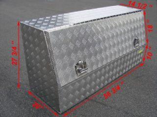 "56""L Aluminum Tool Box Storage Truck Pickup Bed Car Trailer UTV RV Tray Job Site"