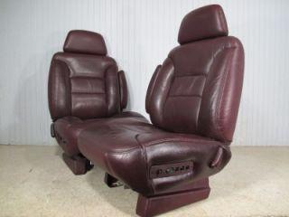 88 99 Chevy Silverado GMC Sierra Yukon Suburban Tahoe Front Truck Leather Seats