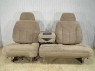 Chevy Silverado GMC Sierra Suburban Tahoe Front Tan 60 40 Truck Seat Console
