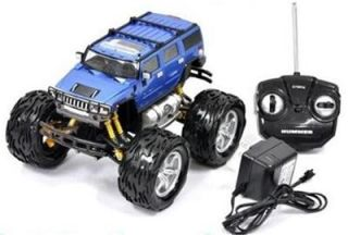 1 26 Scale Remote Control Hummer w Monster Truck Wheels Blue New Retail Pkg