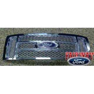 09 10 11 12 F 150 F150 Genuine Ford Parts Chrome Mesh Grille w Emblem New