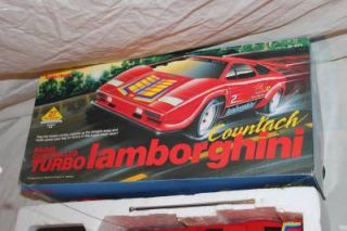Radio Shack Turbo Lamborghini Countach Radio Controlled R C Car