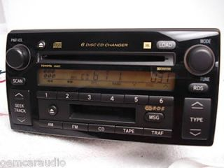02 03 04 Toyota Camry SE Radio 6 Disc CD Changer A56822 JBL 86120 AA090