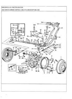 Ford 2000 tractor brake diagram also ford tractor transmission parts