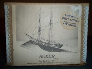 RARE Antique 1934 Bluejacket SHIP Crafters Boxer Two Brig 1831 Wooden Model