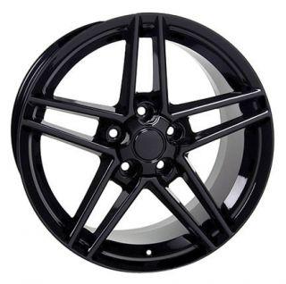 "17"" Black Corvette C6 Z06 Wheels Set of 4 Rims Fit Camaro SS Firebird Trans Am"