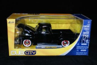 1953 Chevy Pickup Black Dub City 1 24 Scale Diecast