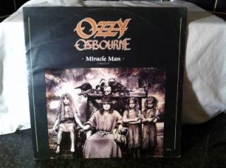 "Ozzy Osbourne Miracle Man 1988 12"" Single Vinyl Record RARE Black Sabbath"