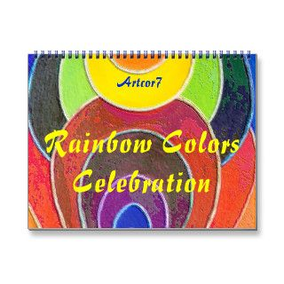 Calendar 2014 Rainbow Colors Celebration