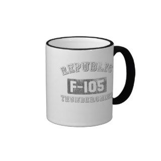 Republic F 105 Thunderchief Coffee Mugs