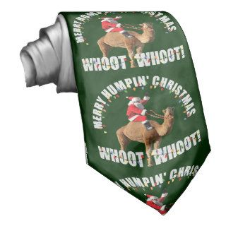 Merry Humpin' Christmas Santa & Hump Day Camel Tie
