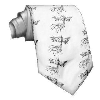 tatuaje fenix blanco y negro tie