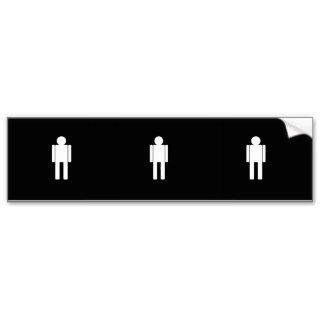 Man illustration271 MAN CARTOON BATHROOM DOOR SIGN Bumper Stickers