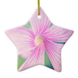 Tiny Pink Flower Macro Christmas Tree Ornament