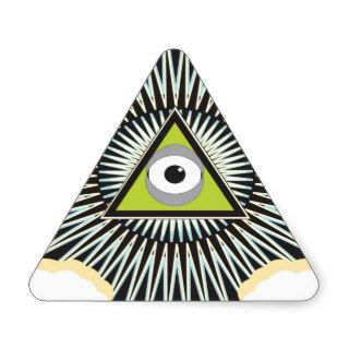Illuminati All Seeing Eye NWO New World Order Triangle Stickers