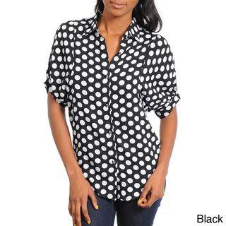 Stanzino Women's Polka Dot Short Sleeve Top Stanzino Short Sleeve Shirts