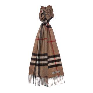 Burberry Giant Check Cashmere Scarf Burberry Designer Scarves & Wraps