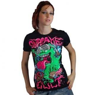 Cupcake Cult Girl Shirt SLIME T black L: Bekleidung