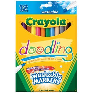 crayola trayola washable markers fine tip assorted colors 48 pack