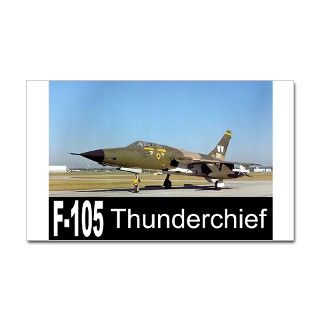 F 105 Thunderchief Rectangle Decal by zoomwear