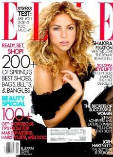 "Elle Magazine   April 2006   Shakira Cover   Layouts of Shakira and Nicole Linkletter from ""America's Next Top Model"" (Volume XXI Number 8): Roberta Myers: Books"