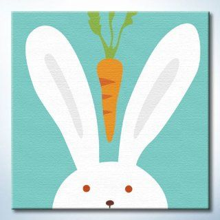 "DiyOilPaintings Rabbit Paint By Number Kit for Kids, Animal,Rabbit, 7.87""x7.87: Arts, Crafts & Sewing"