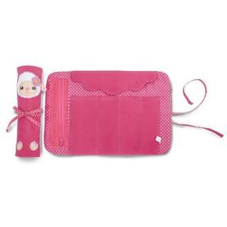 Animal Series Roll Up Pencil Case, Wooly (Lamb) , Pink , One Size   iswas