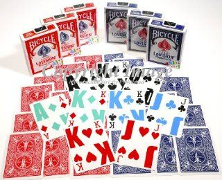 Bicycle E Z SEE Low Vision, Big Number Playing Cards _ Bundle of 6 Decks: Toys & Games
