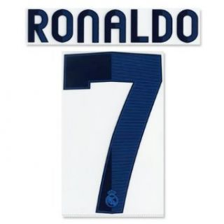 Authentic 12/13 Cristiano Ronaldo #7 Name and Number (Real Madrid Home): Clothing