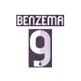 Authentic 2012/2013 BENZEMA #9 Name and Number Real Madrid Away: Everything Else