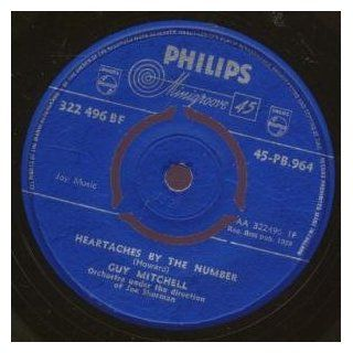 """Heartaches By The Number 7 Inch (7"""" Vinyl 45) UK Philips 1959 Music"""