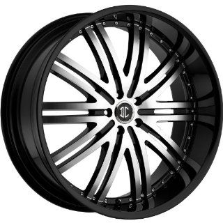 2Crave N11 22 Black Machined Wheel / Rim 5x115 with a 15mm Offset and a 74.1 Hub Bore. Partnumber N11 2295OO15JB Automotive