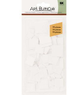 Ek Success Art Blanche Chipboard Shapes, Letters and Numbers, Square Small 70 Piece: Arts, Crafts & Sewing