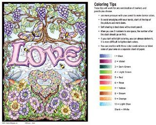 Love   Color By Number Poster Set   Includes 12 Coloring Pencils Toys & Games