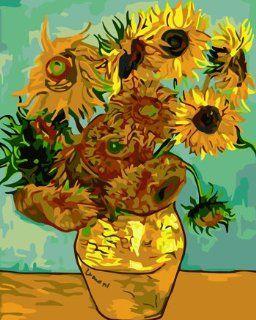 Van Gogh's Sunflower Acrylic (2013 New DIY paint by number 16*20'' kit)