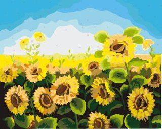 Blooming sunflowers Acrylic (2013 New DIY paint by number 16*20'' kit) Arts, Crafts & Sewing