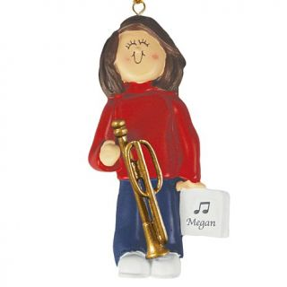Personal Creations Brunette Female Musician Ornaments   Trombone