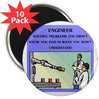 "engineer engineering joke 2.25"" Magnet (10 pa by politicsisfun"