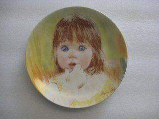 "Fascination the First Plate in the Frances Hook Legacy Series By Artist Francis Hook By Edwin M. Knowles China Company. ""The Eyes Of A Child See The World In All It's Beauty"" Limited Edition Plate Number 4351F (Individually Numbered Plate): T"